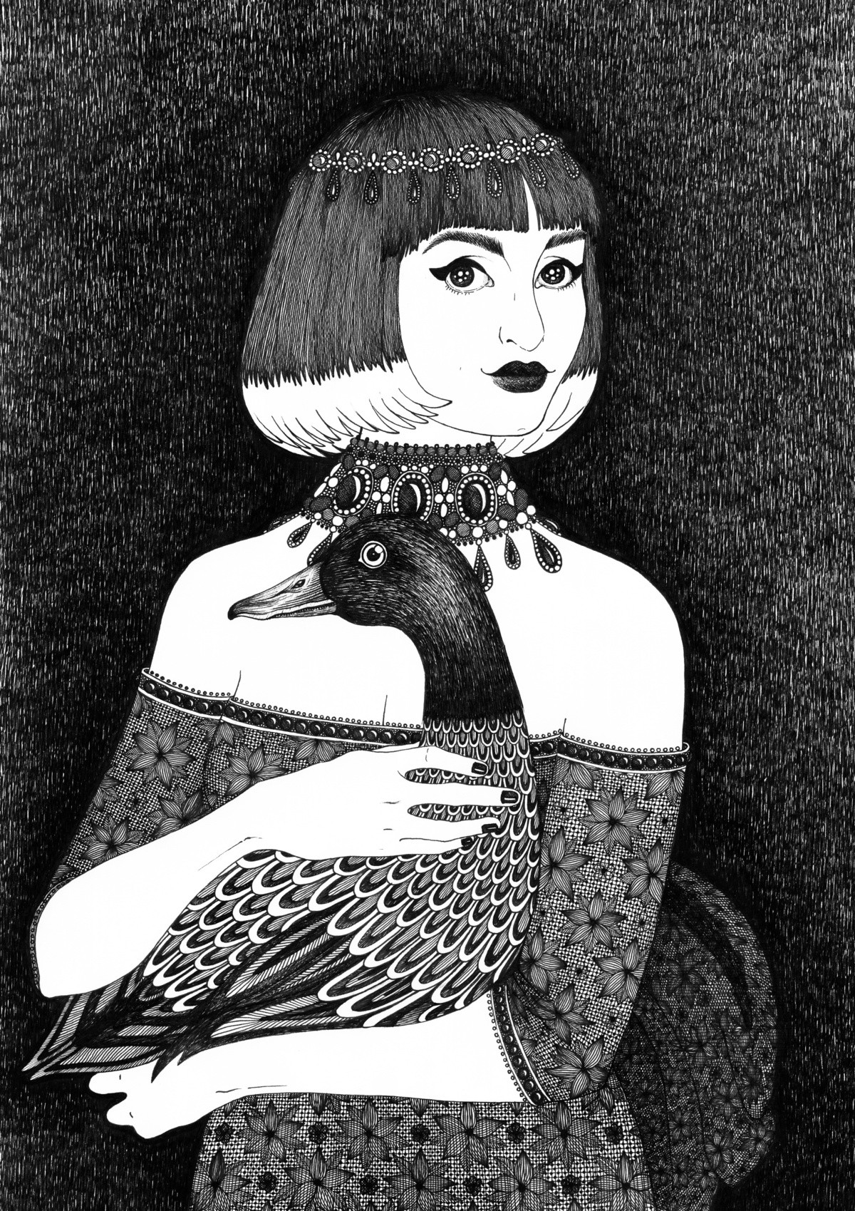 Countess with a duck